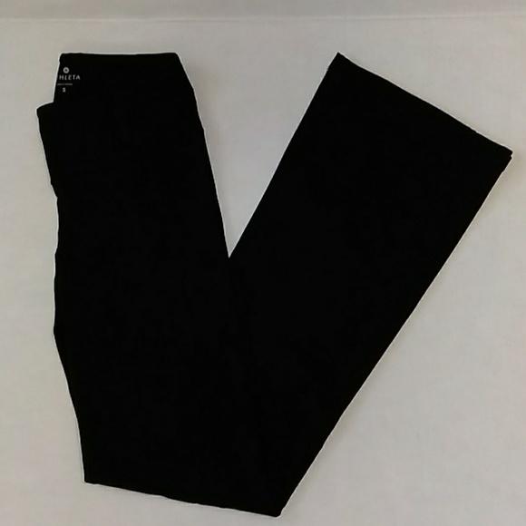 ATHLETA WOMEN YOGA PANTS BLACK SIZE S RN 54023